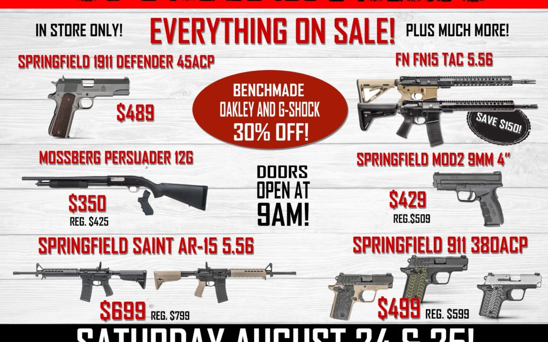 Pre-Labor Day Sale!